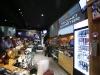 Gli stessi schermi videoproiezione verniciati all'interno di un pub