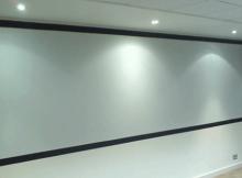 Schermo proiezione verniciato a parete